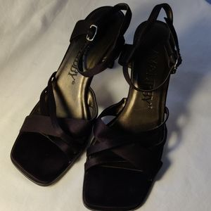 Sam & Libby Black Strappy High Heel Sandals